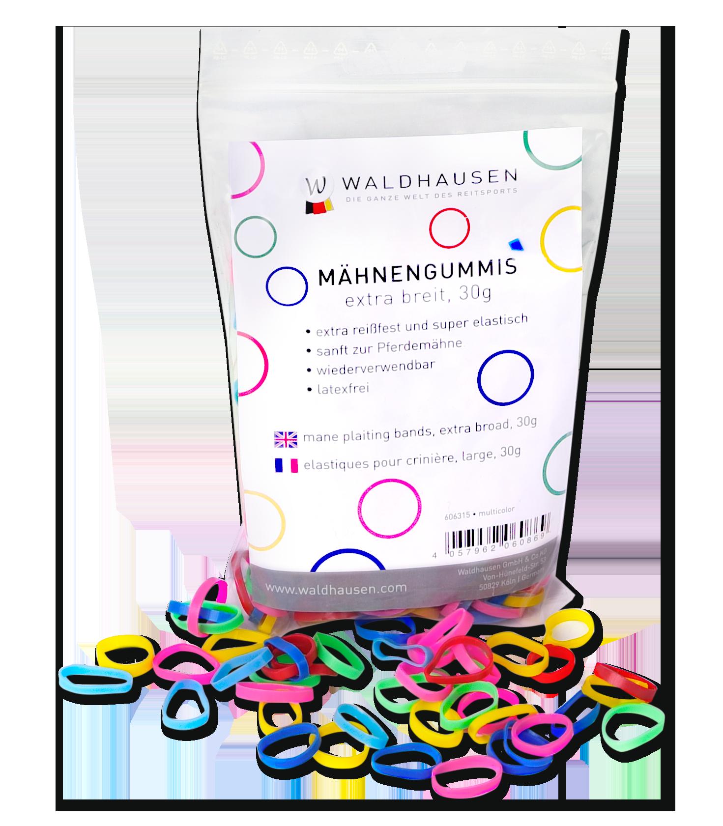Waldhausen Mähnengummis extra breit, multicolor